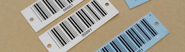 Placas metálicas con códigos de barras sobre aluminio anodizado y acero inoxidable