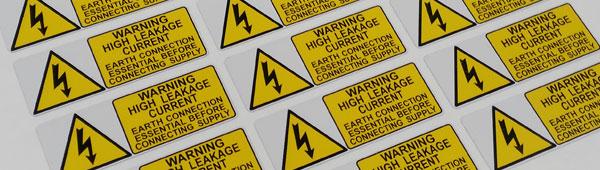 Etiquetas metálicas sobre soporte de aleación de aluminio con certificado UL