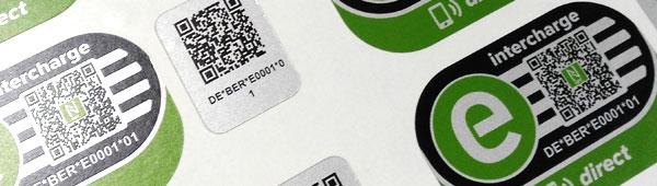 Etiquetas adhesivas con códigos bidi totalmente personalizable también en acabado metálico