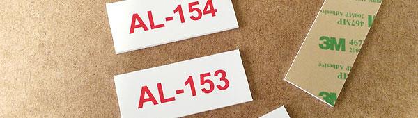 Etiquetas numeradas en PVC expandido 2 mm adhesivas