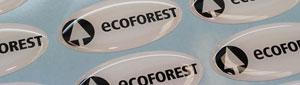 Fabricamos etiquetas adhesivas de pvc con acabado en resina de poliuretano