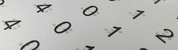 Impresión Braille sobre metales y materiales plásticos
