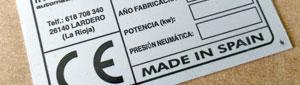 Fabricante de placas de marcado CE