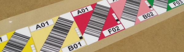 Etiquetas personalizadas en policarbonato mate con código de barras para señalización de almacenes